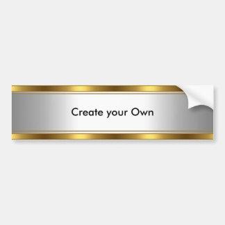 Stellen Sie Ihr eigenes Autoaufkleber-Weiß u. Gold Autoaufkleber