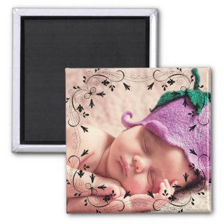 Stellen Sie Ihr eigenes Baby-Foto her Quadratischer Magnet