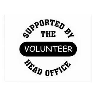 Stellen Sie Ihr eigenes einzigartiges freiwilliges Postkarte