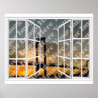 Stellen Sie Ihr eigenes Scheiben-offenes Fenster-P Poster