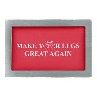 Stellen Sie Ihre Beine groß wieder her Rechteckige Gürtelschnalle