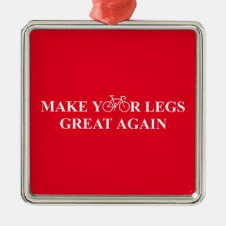 Stellen Sie Ihre Beine groß wieder her Silbernes Ornament