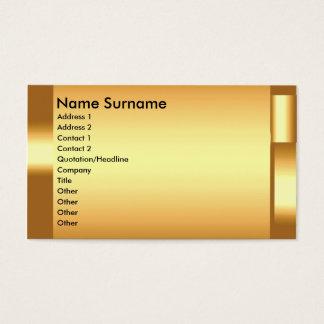 Stellen Sie Ihre eigene elegante GoldVisitenkarte Visitenkarte