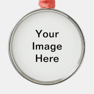 Stellen Sie Ihre eigene erstklassige runde Silbernes Ornament