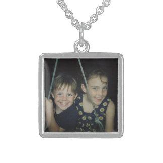 Stellen Sie Ihre eigene Fotohalskette her Sterling Silberkette