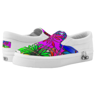 Stellen Sie Ihre eigene schöne bunte Blumen Slip-On Sneaker