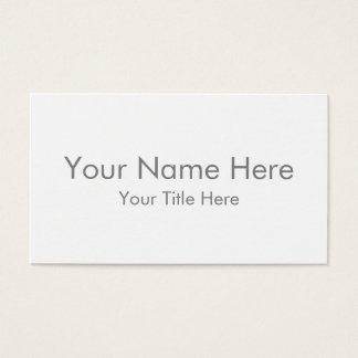Stellen Sie Ihre eigene StandardVisitenkarte her Visitenkarte