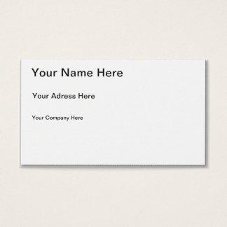 Stellen Sie Ihre eigene Visitenkarte her