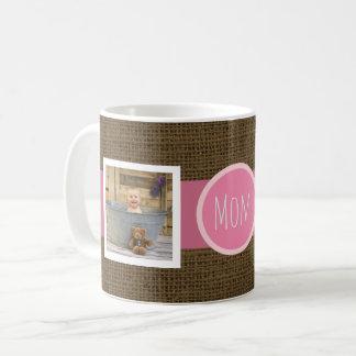 Stellen Sie Ihre eigenen rustikalen 2 Fotos der Kaffeetasse