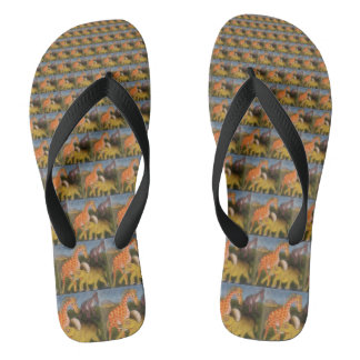 Stellen Sie Ihre eigenen Safari-Tiere Hakuna Flip Flops