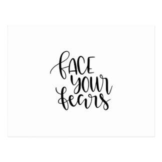 Stellen Sie Ihre Furcht gegenüber Postkarte