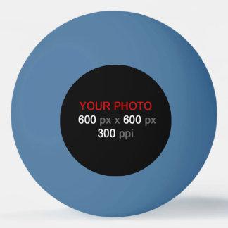 Stellen Sie Ihren eigenen blauen Klingeln Pong Tischtennis Ball