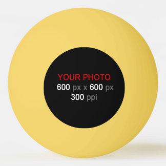 Stellen Sie Ihren eigenen gelben Klingeln Pong Ping-Pong Ball