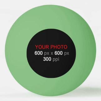 Stellen Sie Ihren eigenen grünen Klingeln Pong Ping-Pong Ball