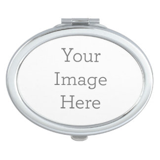 Stellen Sie Ihren eigenen kompakten Spiegel - Oval Schminkspiegel