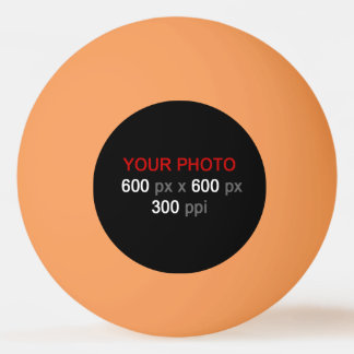 Stellen Sie Ihren eigenen orange das drei Tischtennis Ball