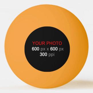 Stellen Sie Ihren eigenen orange Gelb-Klingeln Tischtennis Ball