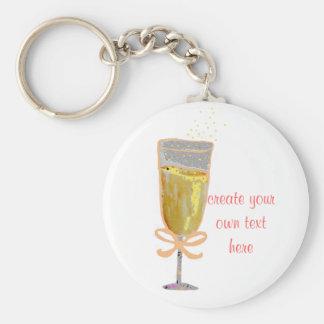 Stellen Sie Ihren eigenen Pfirsich Champagne her Schlüsselanhänger