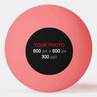 Stellen Sie Ihren eigenen rosa Klingeln Pong Ball Tischtennis Ball