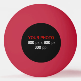 Stellen Sie Ihren eigenen roten Klingeln Pong Ball Tischtennis Ball