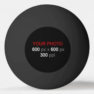Stellen Sie Ihren eigenen schwarzen Klingeln Pong Tischtennis Ball