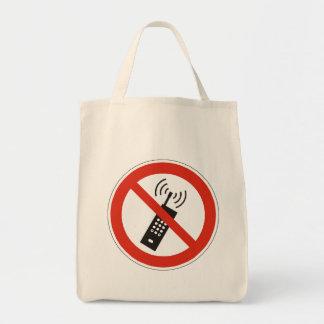 Stellen Sie Ihren Handy ab Einkaufstasche