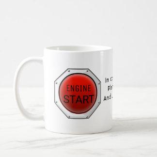Stellen Sie Ihren Motor an Kaffeetasse