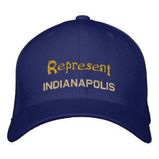Stellen Sie Indianapolis-Kappe dar Bestickte Kappe