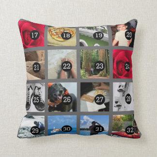 Stellen Sie leicht Ihr eigenes Foto-Kissen mit 32 Kissen
