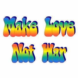 Stellen Sie Liebe-nicht Kriegs-Magneten her Fotoskulptur Magnet