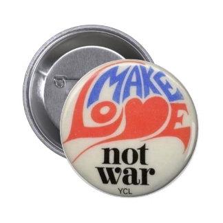 Stellen Sie Liebe-nicht Runder Button 5,1 Cm