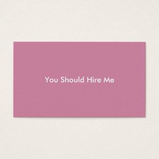 Stellen Sie mich ein Visitenkarte