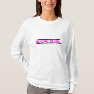 Stellen Sie Poker legalen rosa LogoHoodie her T-Shirt