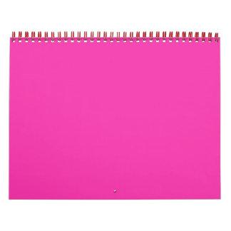 Stellen Sie rosa Foto-Neonwandkalender für Tochter Abreißkalender