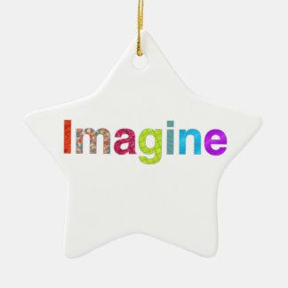 Stellen Sie sich buntes Inspirationsgeschenk des Keramik Ornament