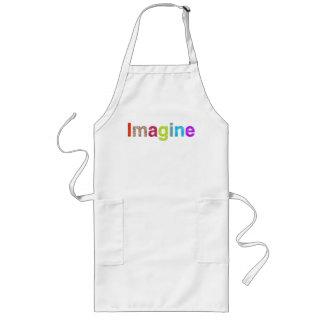 Stellen Sie sich buntes Inspirationsgeschenk des Lange Schürze