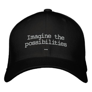 Stellen Sie sich den Möglichkeiten gestickten Hut