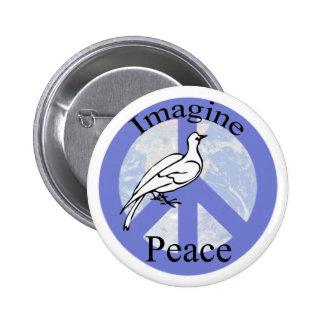 Stellen Sie sich Frieden vor Button