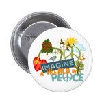 Stellen Sie sich FriedensAbtract Kunst vor Buttons
