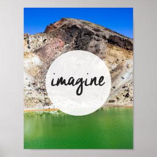"""""""Stellen Sie sich"""" inspirierend Plakat (2) vor"""
