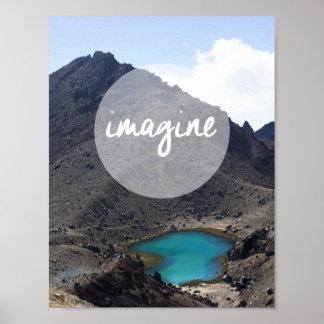 """""""Stellen Sie sich"""" inspirierend Plakat vor"""