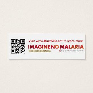 Stellen Sie sich keine Malaria-Info-Karte vor Mini Visitenkarte