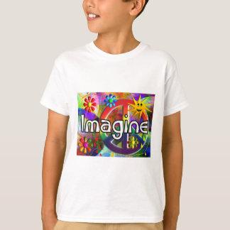 """""""Stellen Sie sich"""" Psychadelic Siebzigerjahre T-Shirt"""