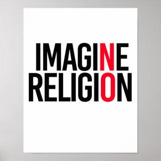STELLEN Sie sich RELIGION - NO- - Pro-Wissenschaft Poster