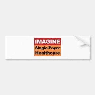 Stellen Sie sich Single-Zahler-Gesundheitswesen Autoaufkleber