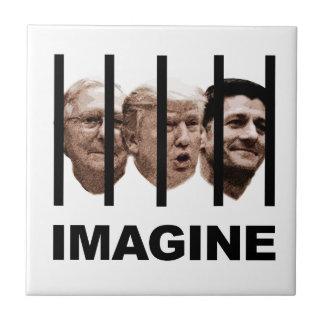 Stellen Sie sich Trumpf, McConnell und Ryan hinter Keramikfliese