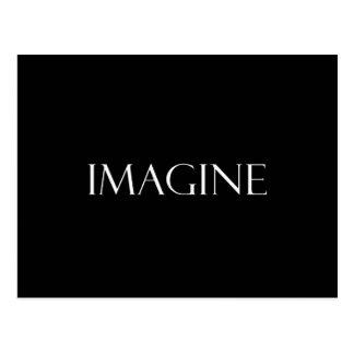 Stellen Sie sich Zitat-inspirierend Fantasie-Zitat Postkarte
