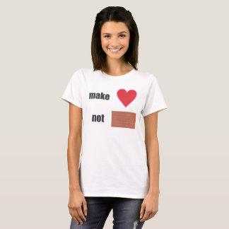 stellen Sie Wand der Liebe nicht her T-Shirt