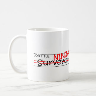Stellenbezeichnung Ninja - Feldmesser Kaffeetasse