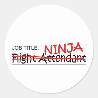 Stellenbezeichnung Ninja - Flugbegleiter Aufkleber